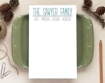 Family Notepad - Personalized Notepads - Stationery Gifts for Families