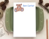Teddy Bear Notepad for Kids - Personalized Notepads - Stationery Gifts for Children