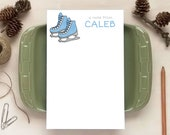 Ice Skates Notepad for Kids - Personalized Notepads - Stationery Gifts for Children