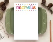Colorful Notepad for Girls - Personalized Notepads - Stationery Gifts for Teens