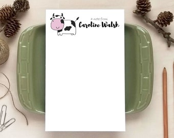 Cow Notepad - Personalized Notepads - Stationery Gifts for Kids
