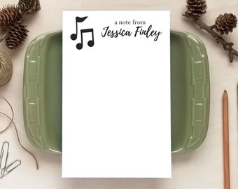 Personalized Notepad - Music Notes Notepad - Gifts for  for Musicians or Music Teachers - Music Teacher Gift