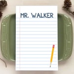 Notebook Paper Notepad - Personalized Notepads - Stationery Gifts for Teachers - 4 Sizes Available!