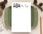 Retro Camera Notepad for Photographers - Personalized Notepads