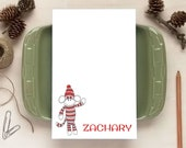 Personalized Notepad - Sock Monkey Notepad - Stationery for Children - Sock Monkey Gift