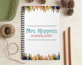 Colored Pencils Notebook for Teachers - Personalized Teacher Gift