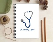 Blue Stethoscope Notebook - Personalized Medical Gift for Doctors or Nurses