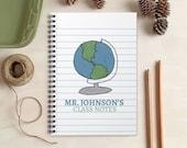 Social Studies Teacher Gift -  Teacher Notebook - Personalized Gift for History Teachers
