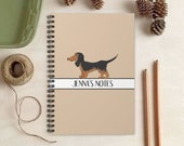 Dachshund Dog Notebook - Personalized Gift for Dog Lovers