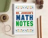 Math Teacher Notebook - Personalized Gift for Mathematics Teachers