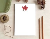 Maple Leaf Notepad - Fall Leaves Stationery Gifts - 2 Sizes Available!