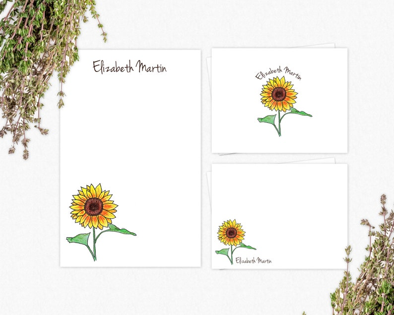 Sunflowers Stationery Set | VLHamlinDesign