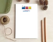 Personalized Notepad - Train Notepad - Stationery Gift for Train Lovers - Train Gifts for Kids