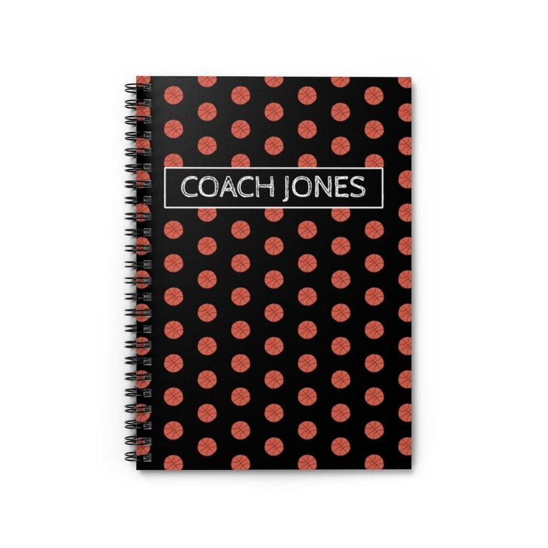 Personalized Basketball Spiral Notebook from VLHamlinDesign