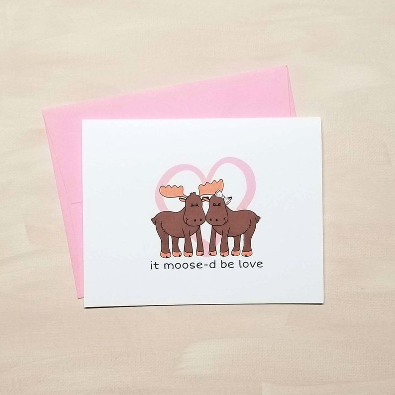 It Moose-d Be Love Anniversary Card