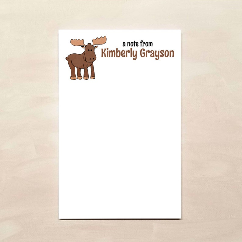Personalized Moose Notepad
