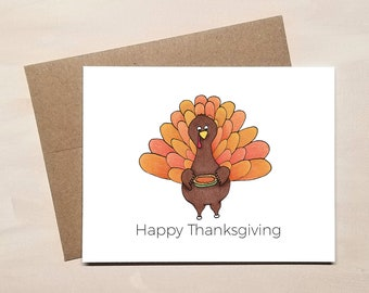Happy Thanksgiving Card - Turkey Greeting Cards
