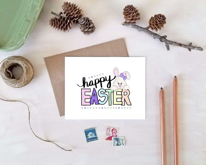 Happy Easter Bunny Card | VLHamlinDesign