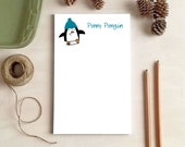 Personalized Penguin Notepad - Penguin Gift - Stationery Gifts for Penguin Lovers