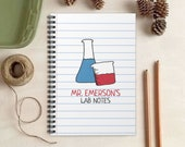 Science Teacher Notebook -  Chemistry Teacher Gift - Personalized Gift for Scientists