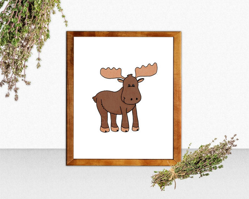 Printable Moose Sign Wall Art