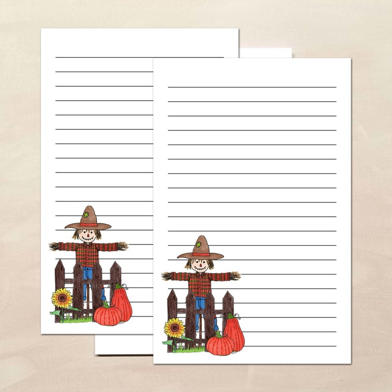 Scarecrow Stationery Paper with Envelopes