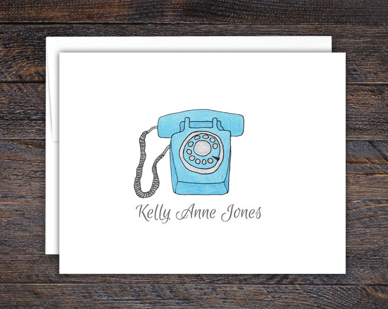 Vintage Telephone Note Cards