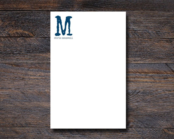 Custom Monogram Notepad for Men