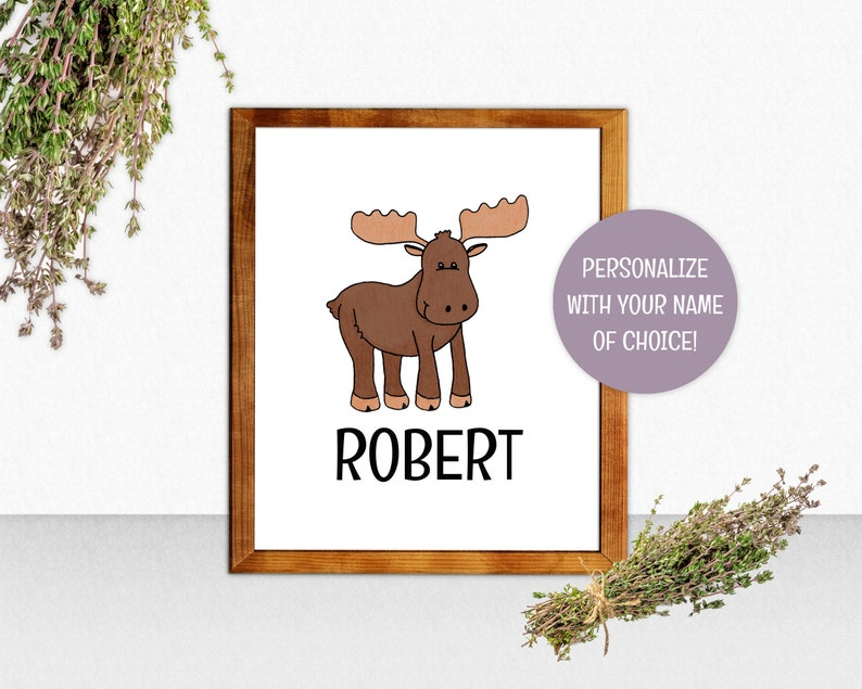 Personalized Moose Wall Art