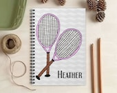 Tennis Notebook - Personalized Gift for Her
