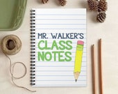 Teacher Notebook - Paper and Pencil Journal - Personalized Gift for Teachers