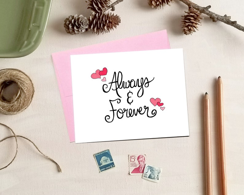 Always and Forever Love - Valentine's Day Card