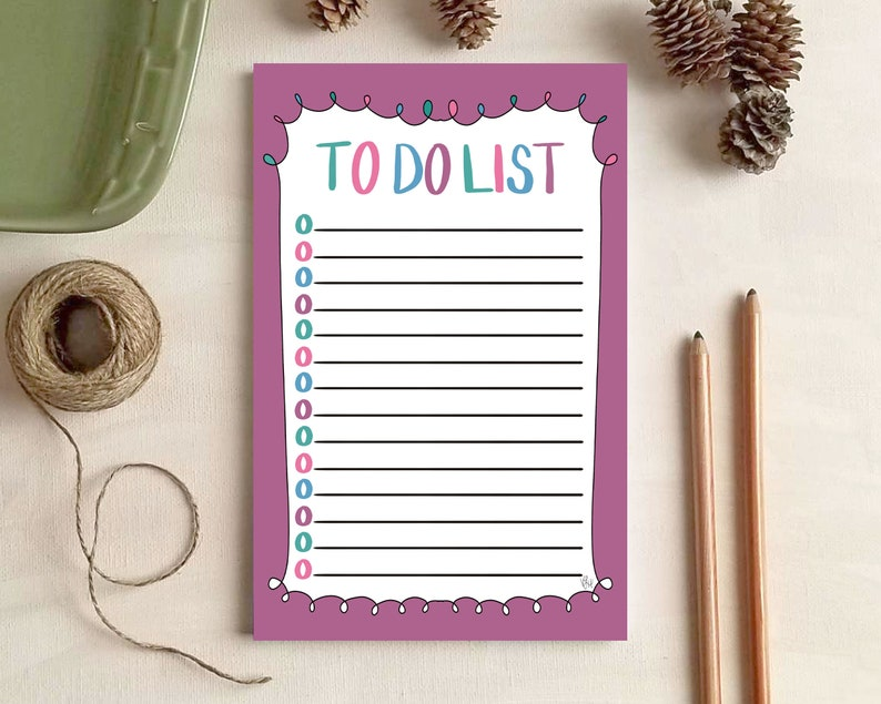 Swirly Doodles To Do List Notepad - VLHamlinDesign