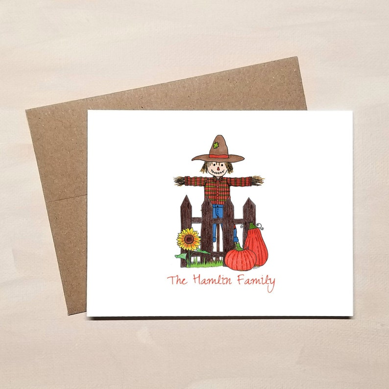 Scarecrow Folded Note Cards