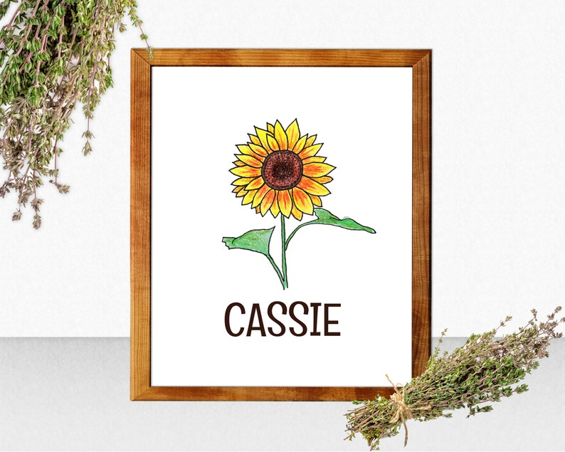 Personalized Sunflower Wall Decor