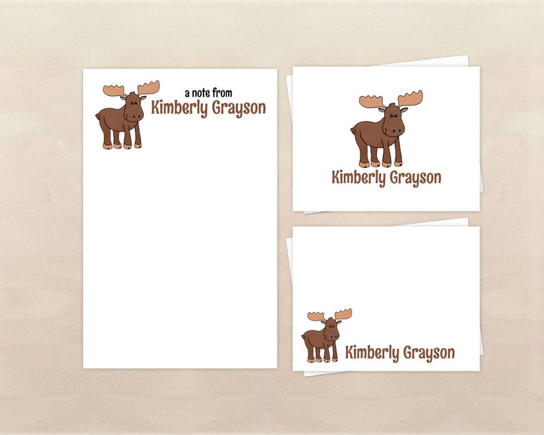 Moose Stationery Set