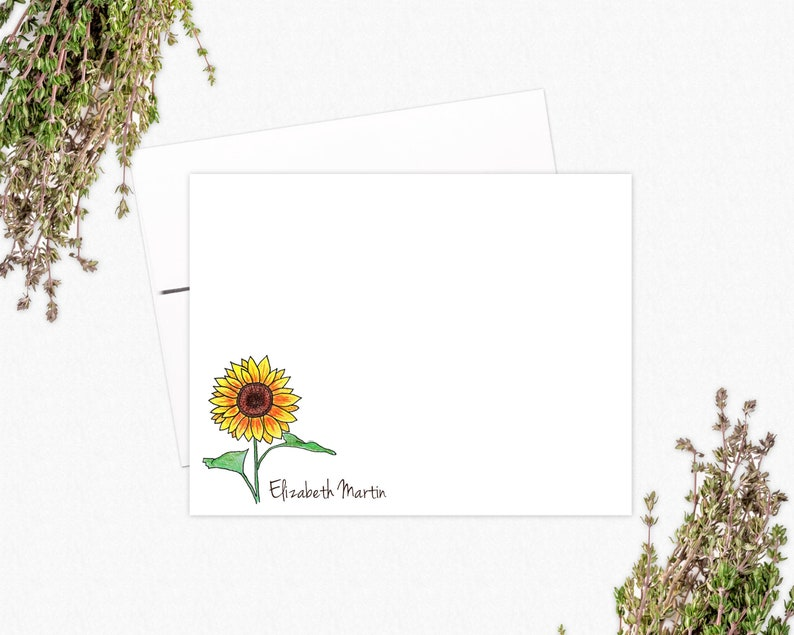 Sunflower Flat Note Card Set | VLHamlinDesign