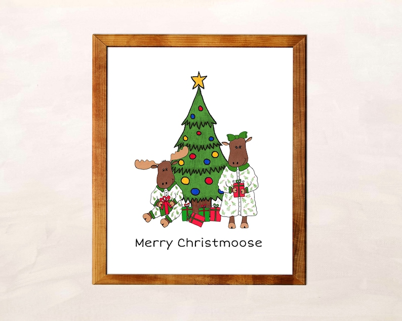 Merry Christmoose Sign