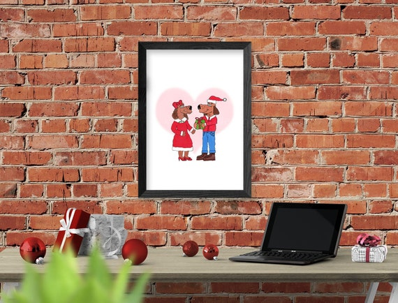 Puppy Love Christmas Wall Decor