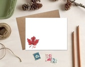 Maple Leaf Cards - Fall Stationery - Personalized Gift for Teachers