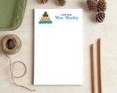 Personalized Notepad - Montessori Beads Notepad - Stationery Gift for Teachers - Teacher Gifts