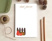 Pumpkin Patch Notepad - Personalized Stationery Gifts for Fall - 2 Sizes Available!