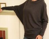 Sandmaiden Wool Knit dolman sleeve hoody - full size range