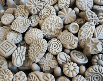 Clay stamps for pottery, fimo, PMC, fondant and more- Clay Tools, Pottery Texture Tool, ***PLEASE read listing description in its entirety