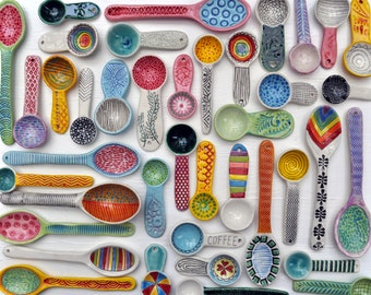 Instant Collection of pottery spoons-- Made to Order