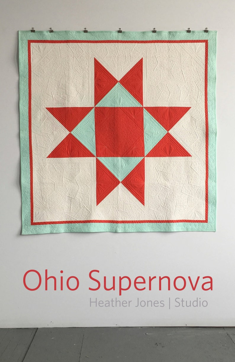 Ohio Supernova a PDF modern quilt pattern in two sizes by image 0