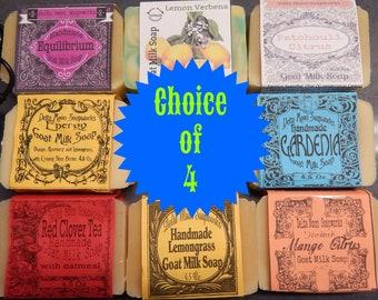 Handmade Goat Milk Soap, Choice of 4, free shipping, ready to ship -  see what Joe Said)