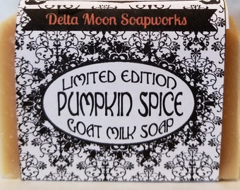 Pumpkin Spice Goat Milk Soap, shea butter soap, holiday soap, dry skin, sensitive skin, coworker gift, READY TO SHIP