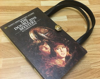 Nancy Drew Book Purse Double Jinx Mystery Handbag Vintage Book Purse