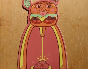 Burger Ween - die-cut vinyl sticker 2.8x4.4 inches